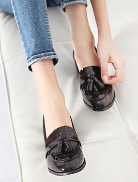 국내제작 방울 애나멜 로퍼 SCA5021/2color/5cm